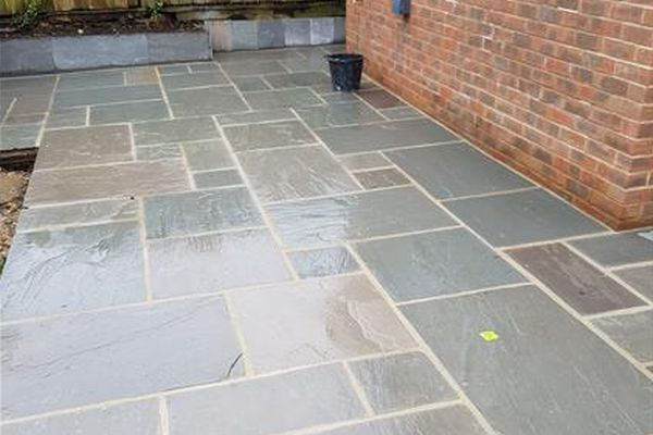 more landscaping in market-harborough - image shows garden patio we installed